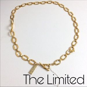 """The limited gold tone belt linked chain 40"""" Nwot"""